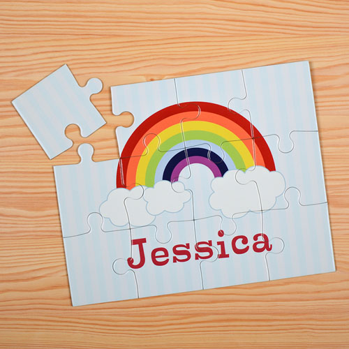 Rainbow Personalized Kids Puzzle