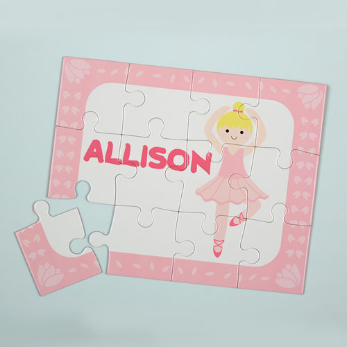 Dance Girl Gold Hair Personalized Kids Puzzle