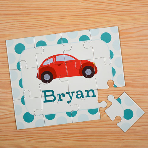 Car Personalized Kids Puzzle