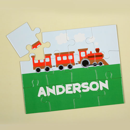 Train Personalized Kids Puzzle