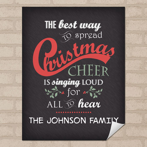Cheer Personalized Poster Print