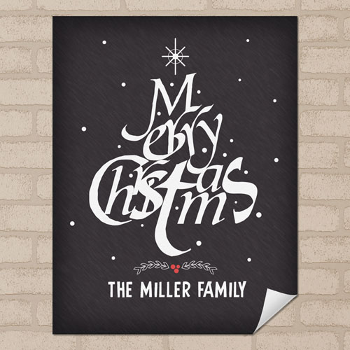 Christmas Tree Personalized Poster Print, Small 8.5