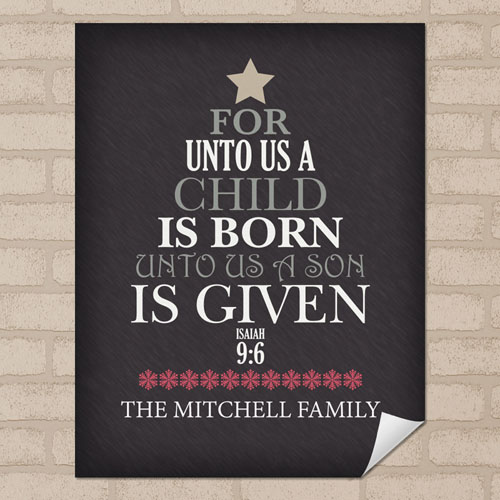 Birth Personalized Poster Print, Small 8.5