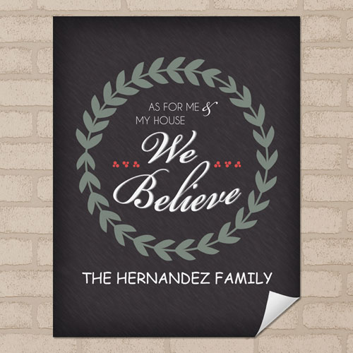 Believe Personalized Poster Print, Small 8.5
