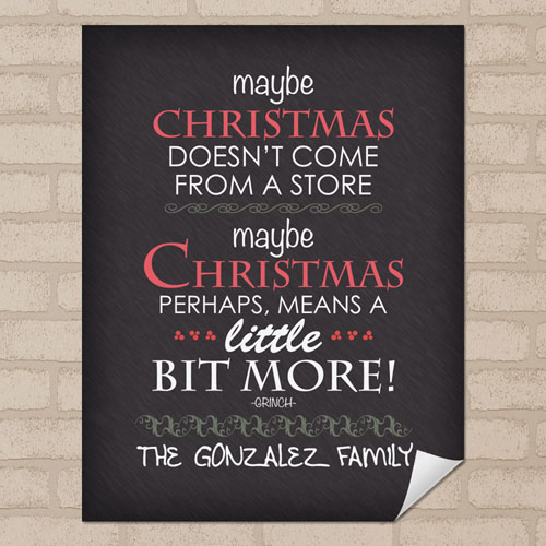 Personalized Christmas Poster Print, Small 8.5