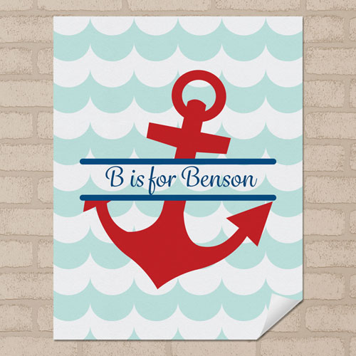 Anchor Personalized Name Poster Print Small 8.5