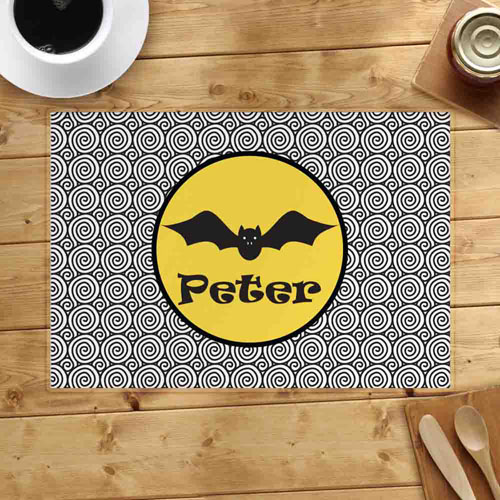 Personalized Halloween Bat Placemats