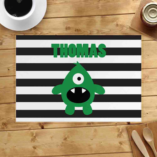 Personalized Monster Boy Placemats