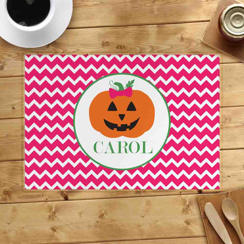 Personalized Pumpkin Girl Placemats
