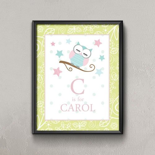 Little Dreamer Personalized Name Poster Print For Kids