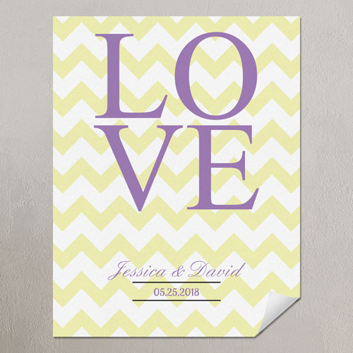 Love Lemon Chevron Personalized Poster Print
