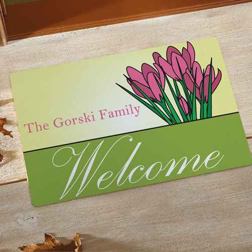 Create Your Own Welcome Spring Door Mat