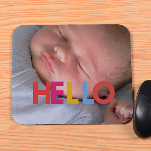 create your own hello mouse pad. Black Bedroom Furniture Sets. Home Design Ideas