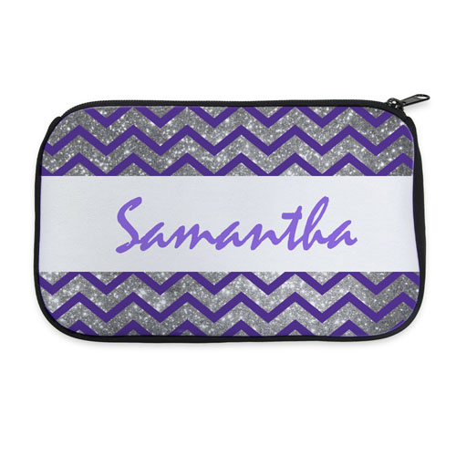 Personalized Neoprene Simple Chevron Cosmetic Bag (6 X 10 Inch)