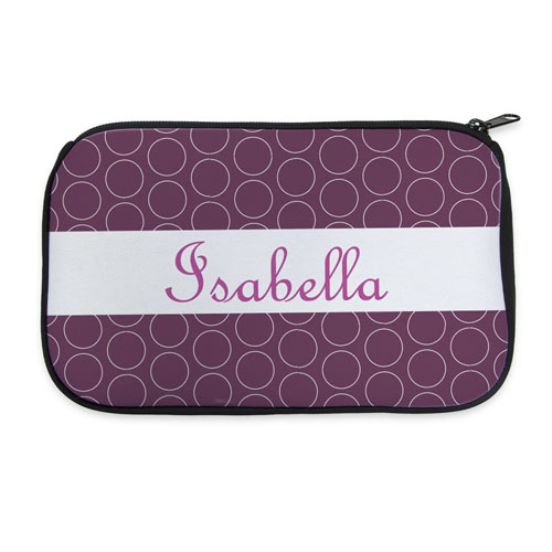 Personalized Neoprene Circle Cosmetic Bag (6 X 10 Inch)