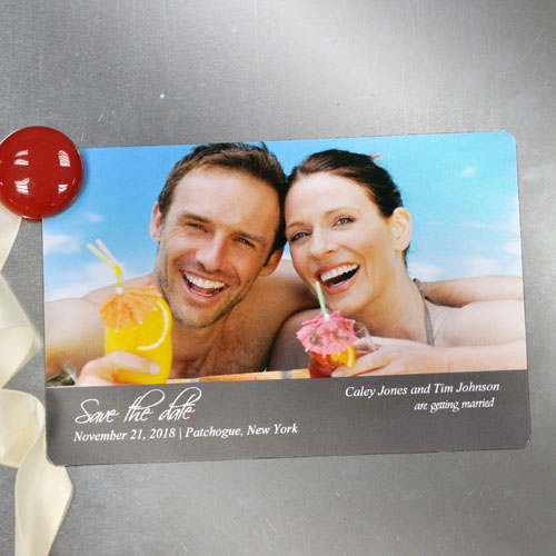 Unique Love Personalized Photo Save The Date Magnet 4x6 Large