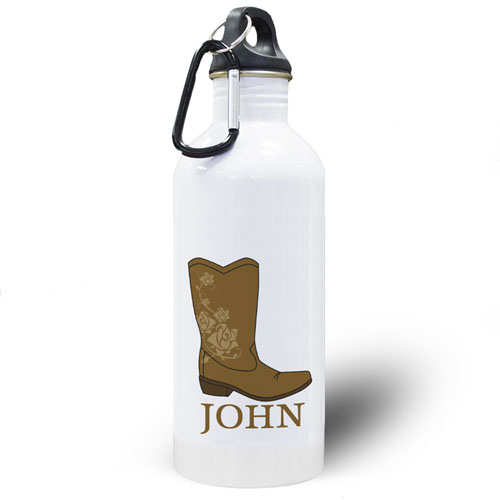 Personalized Photo Boot Water Bottle