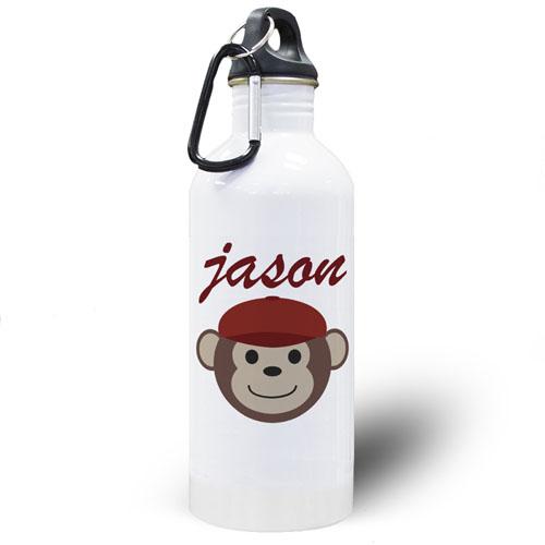 Personalized Photo Monkey Boy Water Bottle