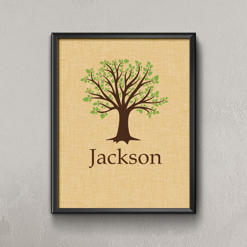Family Oak Tree Personalized Poster Print, Small 8.5