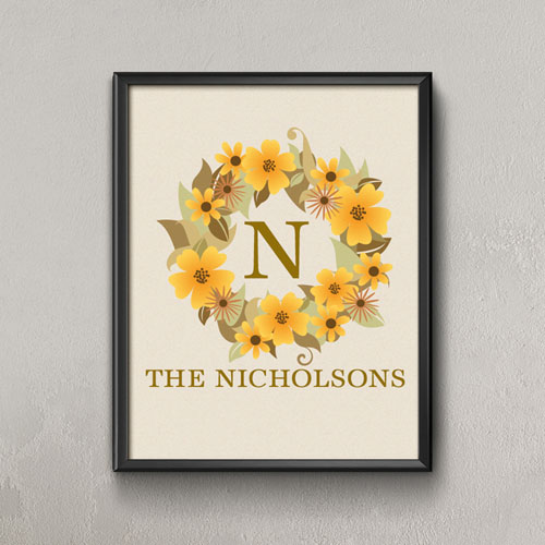 Natural Wreath Personalized Poster Print, Small 8.5