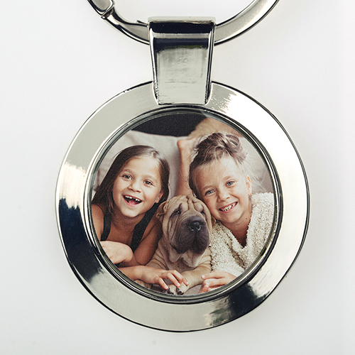 Custom Photo Metal Round Keychain, Small