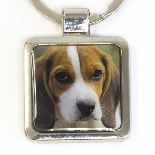 Photo Metal Square Keychain (Small)