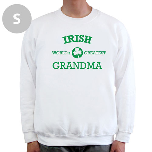 Design Your Own Irish Grandma, White Sweatshirt