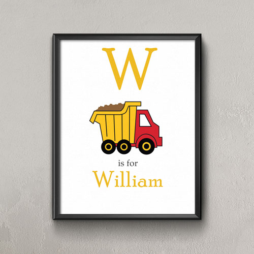 Truck Personalized Poster Print For Kids