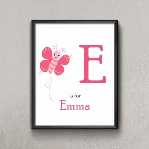 Butterfly Personalized Poster Print For Kids