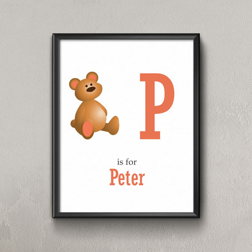 Bear Personalized Poster Print For Kids