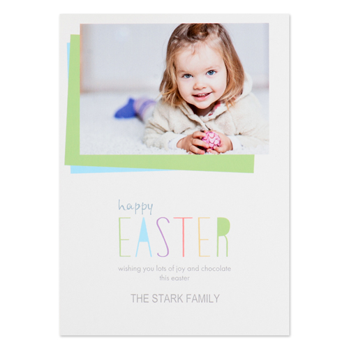 Create Your Own Happy Easter Personalized Photo Card 5X7