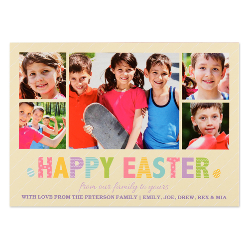 Create Your Own Easter Frame Personalized Photo Card Small