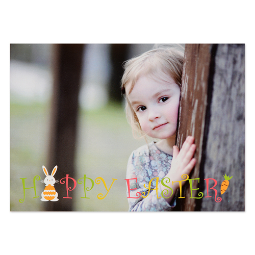 create your own little bunny personalized easter photo card small