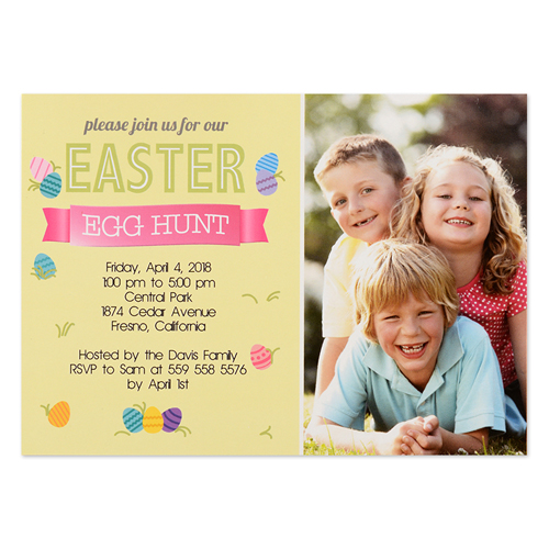 Create Your Own Easter Hunt Personalized Photo Card 5X7