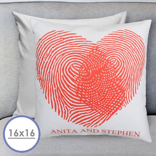 Heart Fingerprint Personalized Pillow Cushion Cover 16