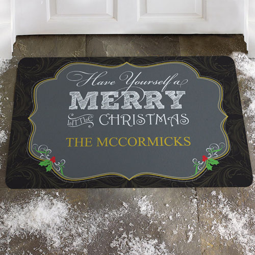 Create Your Own Merry Little Christmas Door Mat