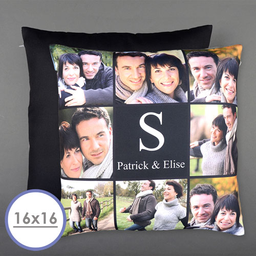 Eight Collage Personalized Photo Pillow Cushion Cover 16