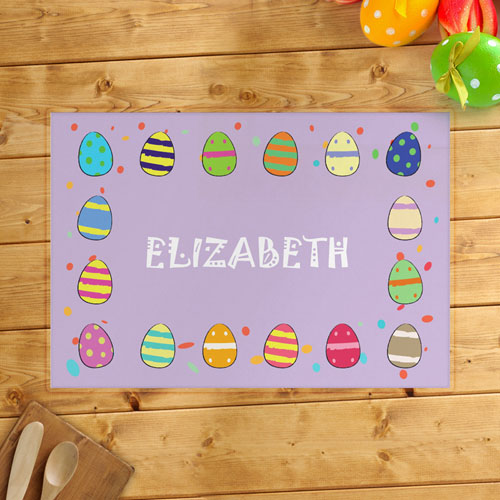 Personalized Girl's Easter Egg Placemats