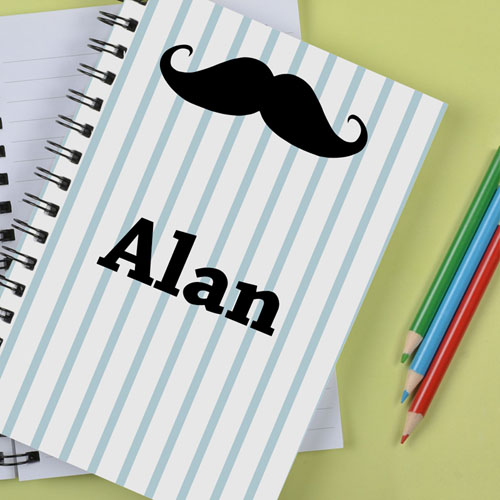 Personalized Mustache Notebook