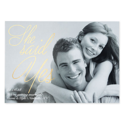 Create Your Own Painted Foil Gold Personalized Wedding Announcement Card Invites