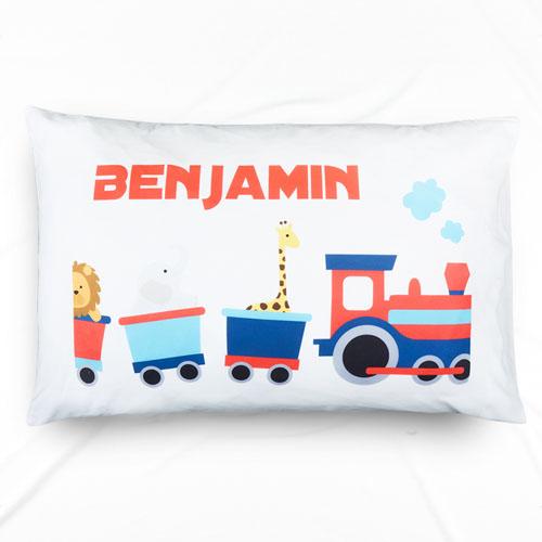 Train Personalized Name Pillowcase