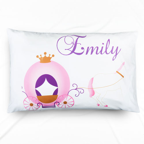 Horse Carriage Personalized Pillowcase With Name