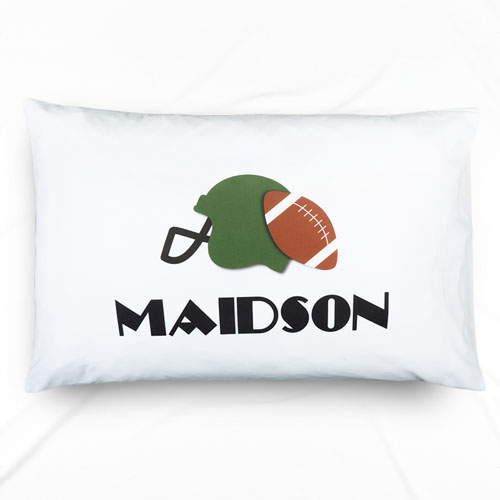 Football Personalized Name Pillowcase For Kids