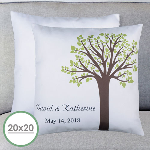 Family Tree Personalized Large Pillow Cushion Cover 20