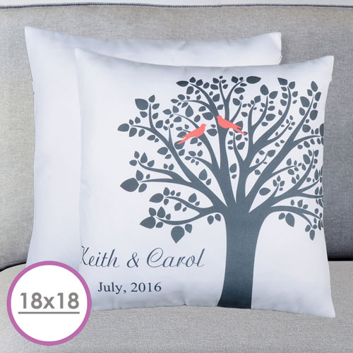Love Birds Personalized Large Cushion 18