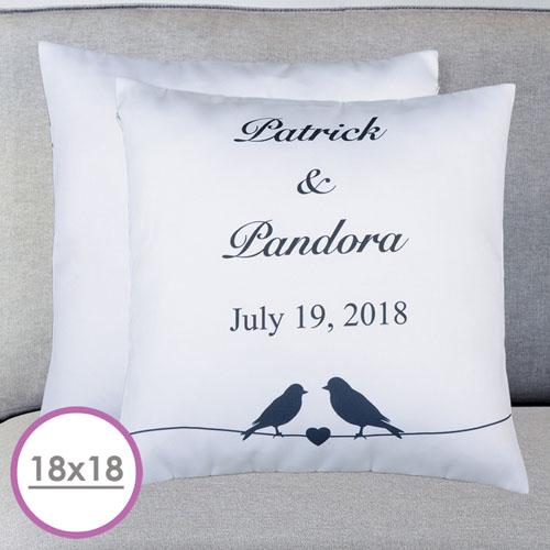 Wedding Couple Personalized Large Cushion 18