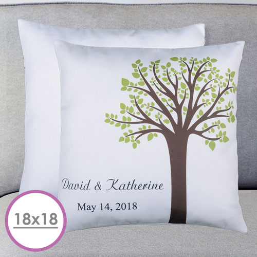 Family Tree Personalized Large Cushion 18