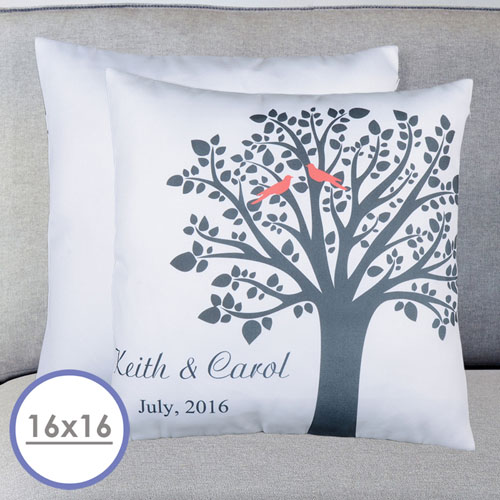 Love Birds Personalized Pillow Cushion (No Insert)