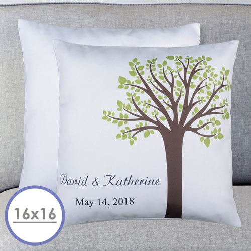 Family Tree Personalized Pillow Cushion Cover 16
