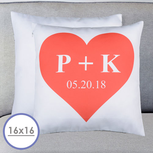 Heart Personalized Pillow Cushion Cover 16